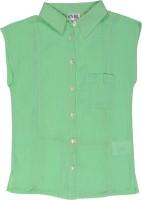 Eves Pret A Porter Girls Solid Casual Regular Shirt
