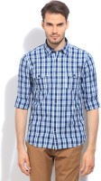 Pepe Jeans Mens Checkered Casual Blue Shirt
