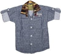 Kidzee Boys Printed Casual Blue Shirt