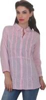 Ten on Ten Women's Solid Casual Pink Shirt