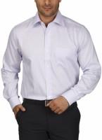 Park Avenue Men's Checkered Formal Purple Shirt