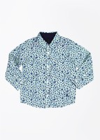 United Colors of Benetton Boys Printed Casual Light Blue Shirt