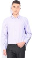 John Players Mens Striped Formal Purple Shirt