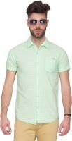 Mufti Mens Printed Casual Green Shirt