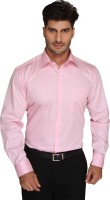 Blacksmith Mens Solid Formal Pink Shirt
