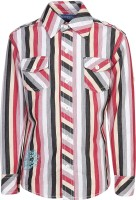 Dreamszone Boys Striped Casual Red, White Shirt