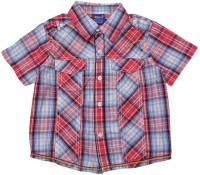 Lilliput Boys Checkered Casual Red Shirt