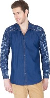 Design Roadies Mens Printed Casual Light Blue Shirt