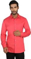 Macoro Mens Checkered Casual Pink Shirt