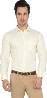 Devaa Mens Solid Formal Yellow Shirt