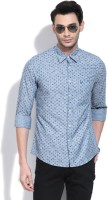 Allen Solly Mens Printed Casual Blue Shirt