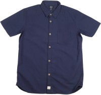 Indian Terrain Boys Solid Casual Dark Blue Shirt