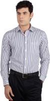 Allen Solly Mens Striped Formal Blue, White Shirt