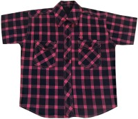 Fashionitz Boys Checkered Casual Pink, Blue Shirt