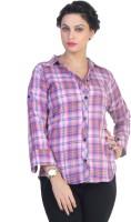 Ten on Ten Women's Checkered Casual Multicolor Shirt