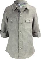 ShopperTree Boys Solid Casual Grey Shirt