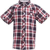 ShopperTree Boys Checkered Casual Collar Shirt