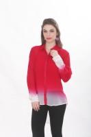 Ten on Ten Women's Solid Casual Red Shirt