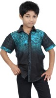Zeal Boys Printed Casual Black, Blue Shirt