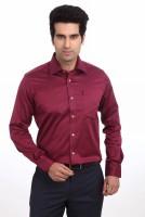 Park Avenue Men's Solid Formal Red Shirt