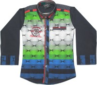 Empire Apparels Boys Embroidered Casual Green Shirt