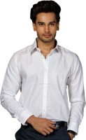 Provogue Mens Solid Formal White Shirt