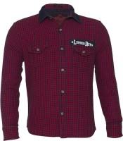 Lumber Boy Boys Self Design Casual Red Shirt