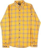 Indian Terrain Boys Checkered Casual White, Dark Blue, Yellow Shirt
