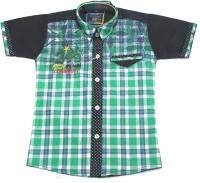 Empire Apparels Boys Printed Casual Green Shirt