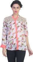 Ten on Ten Women's Printed Casual Multicolor Shirt