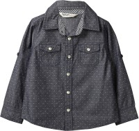 Beebay Boys Polka Print Casual Grey Shirt