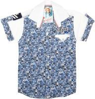 Kidzee Boys Self Design Casual White Shirt