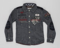 Noddy Boys Solid Casual Black Shirt