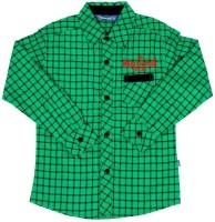 Dreamszone Boys Checkered Casual Green Shirt