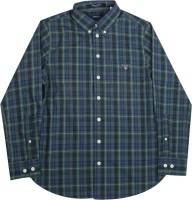 Gant Boys Checkered Casual Dark Blue, Dark Green Shirt