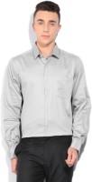 John Players Mens Solid Casual Grey Shirt
