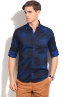 The Indian Garage Co. Mens Checkered Casual Blue, Black Shirt