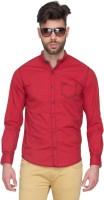 Mufti Mens Polka Print Casual Red Shirt