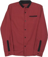 Poppers by Pantaloons Boys Solid Casual Red Shirt