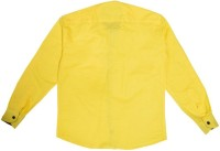 Little Man Boys Solid Casual Yellow Shirt