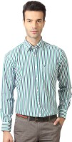 Allen Solly Mens Striped Casual White, Blue, Green Shirt