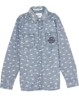 Pepe Jeans Boys Printed Casual Grey Shirt
