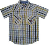 Globe Born Lucky Boys Checkered Casual White, Yellow Shirt