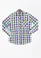 John Players Mens Checkered Casual Multicolor Shirt
