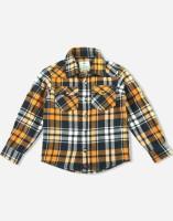 Cherry Crumble California Boys Checkered Casual Black Shirt
