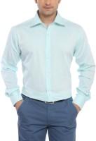 Raymond Men Solid Formal Green Shirt