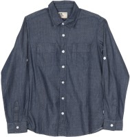 Flying Machine Boys Printed Casual Dark Blue Shirt