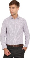 I-Voc Mens Checkered Formal White, Red Shirt
