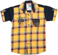 Kidzee Boys Checkered Casual Gold Shirt