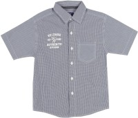 612 League Boys Checkered Casual Dark Blue Shirt